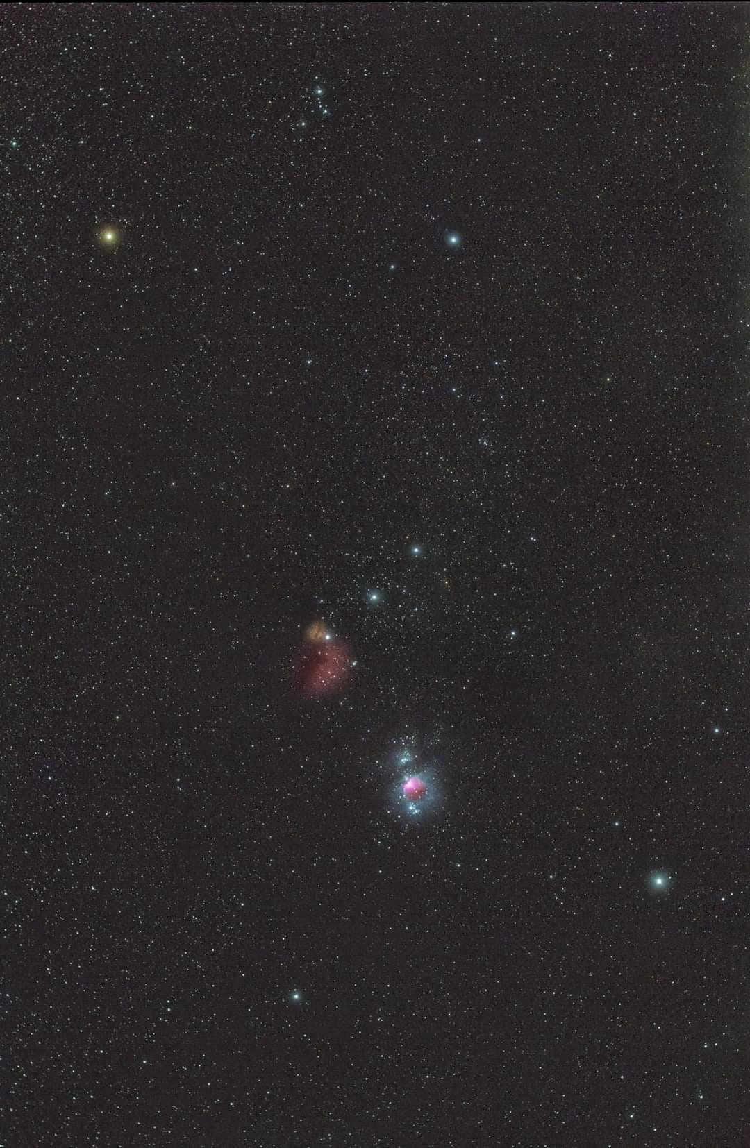 Picture of Orion Nebula and surrounding stars by Muhammad Ali Pakistan
